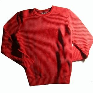 Nautica Crew Neck Cotton Red Sweater L NEW!